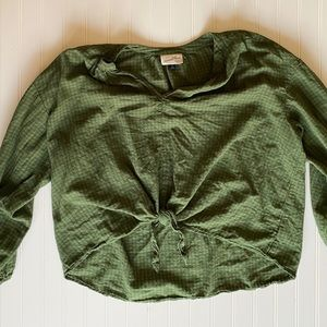 Green Loose and Light Top